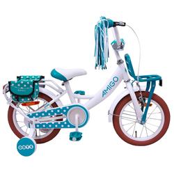 LeNoSa Kinderfahrrad Kinderfahrrad AMIGO 12 Zoll Mädchen Fahrrad, 1 Gang