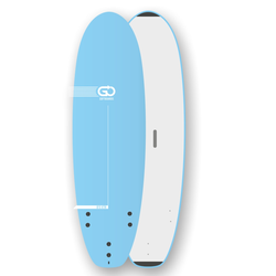 Go Softboard School Surfboard XTR wide body sandwich, Länge in Fuß: 8.6, Breite in inch: 27