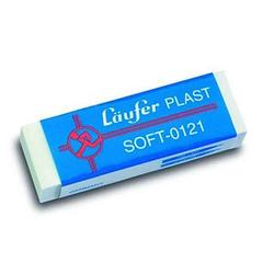Läufer Radiergummi Plast Soft weiß