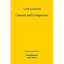 Content and Competence. Jakob Weissinger  - Buch