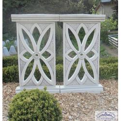 Dekozaun Betonelemente 90cm hoch als Gartendeko Schmuck Betonzaun Elemente 55cm lang Preis je Stück