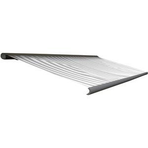 Mendler Elektrische Kassettenmarkise T122, Markise Vollkassette 4x3m ~ Acryl Grau/Weiß, Rahmen grau