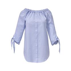 Streifen-Bluse 3/4-Arm Emilia Lay hellblau/weiß