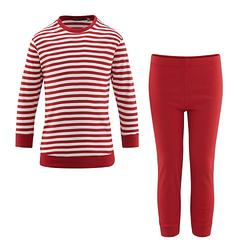Schlafanzug Schlafanzüge Kinder rot/weiß Gr. 92  Kinder