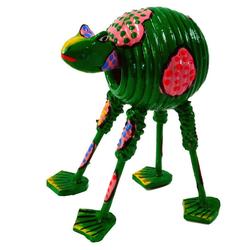 Guru-Shop Dekofigur Wackelkopf Tier, Wackeltier - Frosch