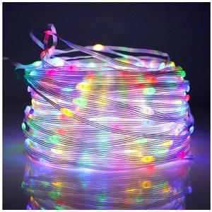 Rosnek LED-Lichterkette 20M-100M,Beleuchtung Lichterschlauch, Party Garten Außen Deko Weihnachtsdeko bunt 100 m