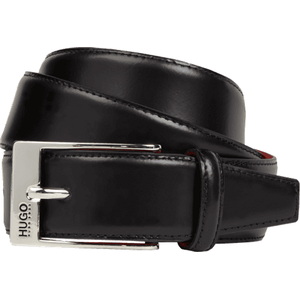 HUGO Gürtel aus glattem Leder in Schwarz, Größe 110, Artikelnr. 7246683110