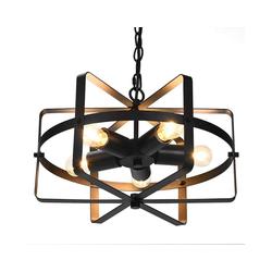 COSTWAY Deckenleuchte Deckenlampe Retro Industrie Lampe Kronleuchter