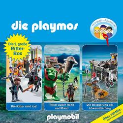 Die Playmos - Das Original Playmobil Hörspiel, Die grosse Ritterbox 2: Folgen 24, 45 und 55: Die Ritter sind los! / Ritter ausser Rand und Band / Die