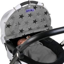 Dooky Design Sonnenschutz für Kinderwagen Sonnenschirm Grey Stars