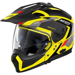 Nolan N70-2 X Grandes Alpes N-Com Helmet, black-yellow, Größe L