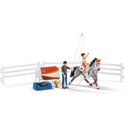 Schleich® Spielfigur Horse Club, Mias Voltigier-Reitset (42443), (Set)