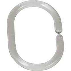 Wenko Duschvorhang Ringe transparent, 12 er Set