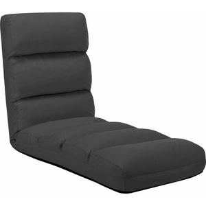 vidaXL Bodenstuhl Faltbar Anthrazit Kunstleder Schlafsessel Sessel Bodenkissen