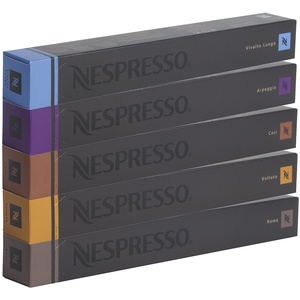 Nespresso Sortiment, 50 Kapseln originali- 10 x Cosi, 10 x Arpeggio, 10 x Roma, 10 x Vivalto Lungo, 10 x Volluto