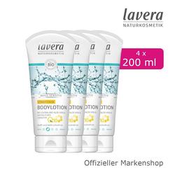 lavera Bodylotion, 4-tlg., Straffende Damen Bodylotion Körperpflege Q10 Bio