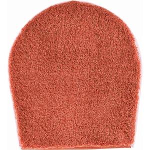 Grund Badteppich 32 mm 100% Polyacryl, ultra soft, rutschfest, ÖKO-TEX-zertifiziert, 5 Jahre Garantie, LEX, WC-Deckelbezug 47x50 cm, orange
