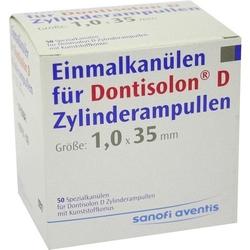 DONTISOLON D Einm.Kan.f.Dontisolon D Zyl.Amp. 50 St.