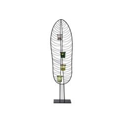 KARE Kerzenständer Teelichthalter Leaf Wire 86cm grau