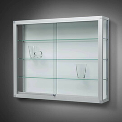 VERTUM 100 Wandvitrine mit Glasschiebetüren, b202xh100xt25cm