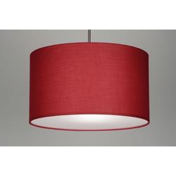 Pendelleuchte Modern Stoff Rot Rund 30378