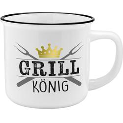 Gruss und Co 45790 Becher Grillkönig New Bone China Porzellan 35 cl