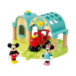 BRIO® Spielzeug-Eisenbahn Micky Maus Bahnhof mit Aufnahmefunktion