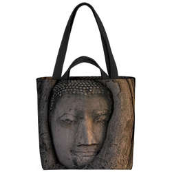 VOID Henkeltasche (1-tlg), Buddha Kopf Baum Hinduismus Buddhismus Jainismuss Elefant Gott Religion