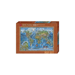 HEYE Puzzle Puzzle Amazing World, 2000 Teile, Puzzleteile