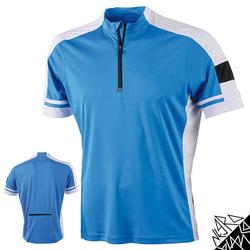 Herren Radtrikot / Fahrradtrikot | James & Nicholson blau L