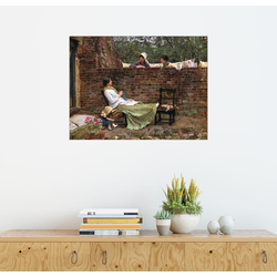 Posterlounge Wandbild, Plauderei 70 cm x 50 cm