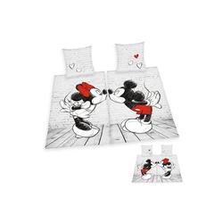 Partnerbettwäsche Mickie & Minnie, Walt Disney, mit Herzen