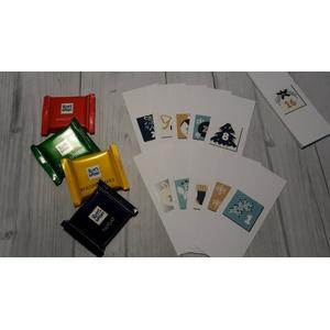 24 Banderolen für Ritter Sport Mini Schokoladen Adventskalender - Motiv 1