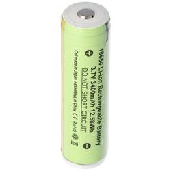 3400mAh Akku passend für den 3.7V 18650ICR für Steel wiederaufladbar 10W wiederaufladbare LED-Taschenlampe