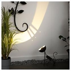 etc-shop LED Dekofigur, Gartendeko rost Garten Solar Deko Solartiere für Außen Gartendeko Figuren, Katze, 1x LED 3500K, LxH 20,5x23,5 cm