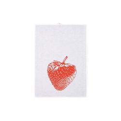 Hamburger Weihnachtskontor Geschirrtuch Geschirrtuch - Erdbeere rot weiß