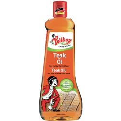 POLIBOY Teak Öl, hell, Pflegeöl für helle Harthölzer, 500 ml - Flasche