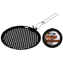 Grillpfanne gelocht und flach für Pizza - 33 cm