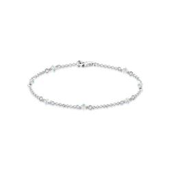 Elli Armband Klassiker Elegant Swarovski® Kristalle 925 Silber, Kristall Armband 18