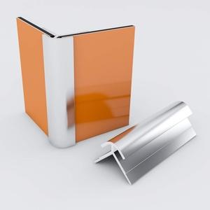 Duschrückwand-Profilsystem Außeneckprofil Aluprofil Aluminiumprofil für 3mm Duschrückwand Küchenspiegel 300cm silber