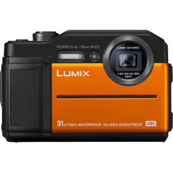 Lumix Panasonic Lumix DC-FT7 Outdoor-Kamera (4K Ultra HD, WLAN (Wi-Fi), 4,6x opt. Zoom) orange