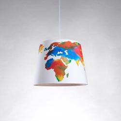 Hängeleuchte Weltkarte