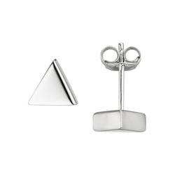 JOBO Paar Ohrstecker Dreieck, dreieckig 925 Silber