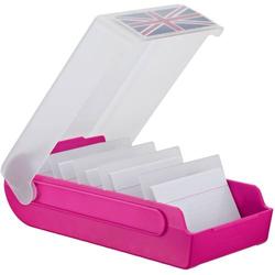 Lernkartei BeeBox A7 quer bis 600 Karten rot