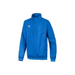 PUMA Trainingspullover LIGA Training Quarter Zip Kinder Fußball Windbreaker blau