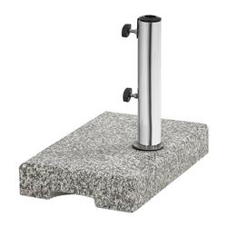 Dehner Schirmständer Ständer, eckig, Granit/Edelstahl