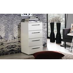 Vito Schubladenkommode 4041 in hochglanz weiß, 40 x 81 cm