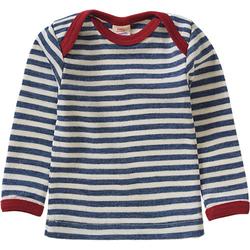 Unterhemd langarm aus Schurwolle blau Gr. 74/80