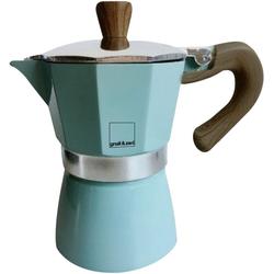 gnali & zani Espressokocher Venezia, Induktion, blau blau