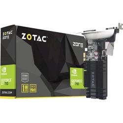 Zotac Grafikkarte Nvidia GeForce GT710 1GB DDR3-RAM PCIe x1 HDMI®, DVI, VGA
